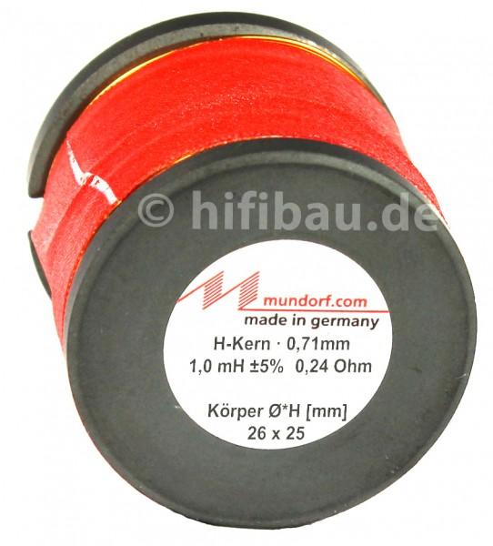 Mundorf H-Kern Ferrit Spule 1,0 mH / 0,24 Ohm