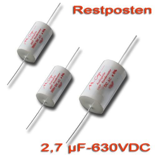 2,7 µF MCAP Folienkondensator - 630 VDC (Restposten)