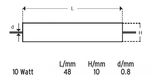 Axialer Drahtwiderstand 0.10 Ohm ±5 %|10 Watt-1