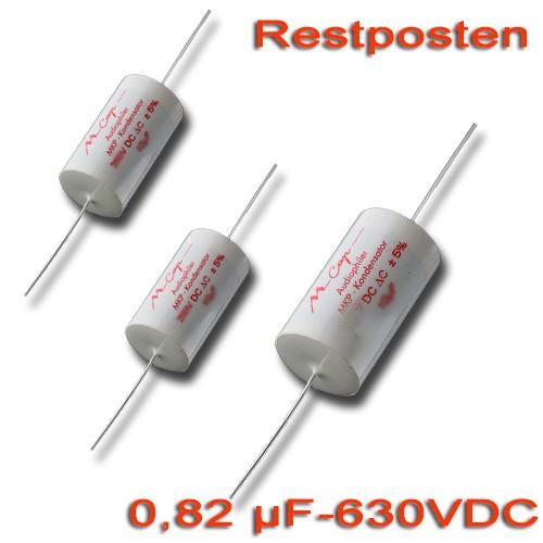 0,82 µF MCAP Folienkondensator - 630 VDC (Restposten)