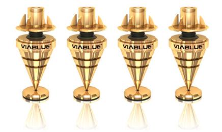ViaBlue HS Spikes Gold, 12-teilig, 4 Stück