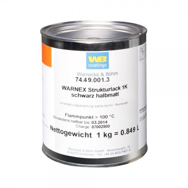 Warnex Strukturlack Schwarz 1 kg