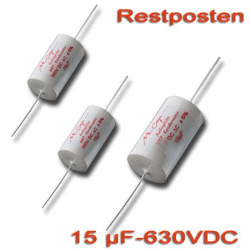 15 µF MCAP Folienkondensator - 630 VDC (Restposten)
