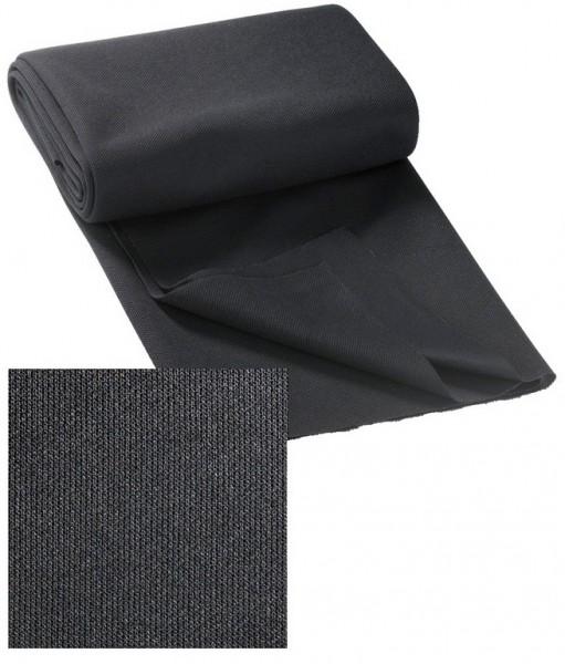 Akustikbespannstoff Schwarz 125 x 0,75 cm