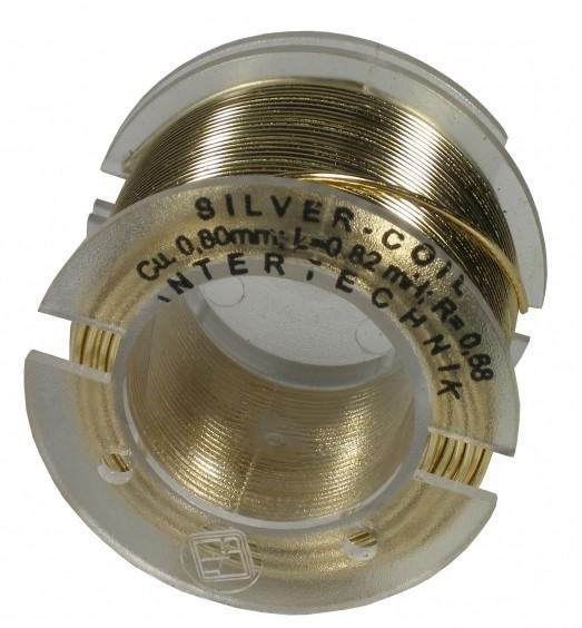 Silberdraht Luftspule  0,05 mH / 0,14 Ohm