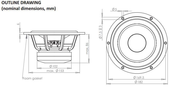 wavecor subwoofer sw182bd01 mit gusskorb g u00fcnstig kaufen